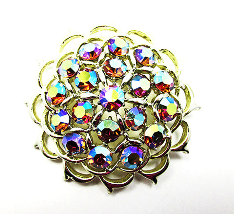 Sarah Coventry 1960s Vintage Jewelry Iridescent Diamante Pin/Pendant - Front