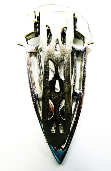 Vintage 1930s Costume Jewelry Exceptional Art Deco Diamante Dress Clip - Back