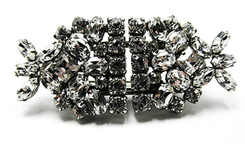 Dazzling Vintage 1930 Sparkling Retro Art Deco Duette Pin/Dress Clips