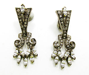 Glamorous Vintage Retro Contemporary Style Drop Earrings