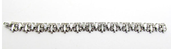 Crown Trifari Vintage Jewelry 1950s Mid-Century Diamante Bracelet - Front