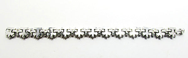 Crown Trifari Vintage Jewelry 1950s Mid-Century Diamante Bracelet - Back