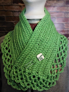 Lacey Neckwarmer with Closure pin  SALE 2O% OFF USE COUPON CODE: BQN2MS8KWSHR AT CHECKOUT