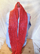 Load image into Gallery viewer, RED SHIMMERING SCARF