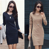 Wholesale Good Quality Long Sleeve OL Dresses For Big Sale!- Fowish.com