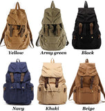 Simple Canvas Student Bags Travel Bags Backpacks For Big Sale!- Fowish.com