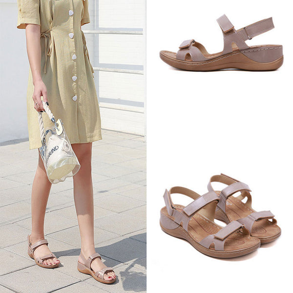 Fashion Non-slip Beach Stitching Flats Summer Shoes Women's Sandals