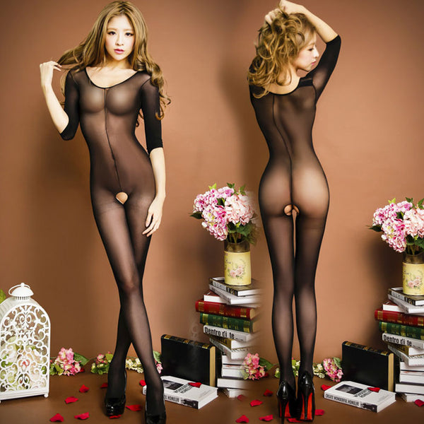 Sexy Perspective One-piece Temptation underwear Tights Hot Girl's Stocking Open Pussy Conjoined Lingerie