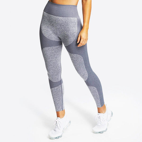 Sexy Knitted Buttocks Splice Yoga Pants New Sports Fitness Slim Leggings
