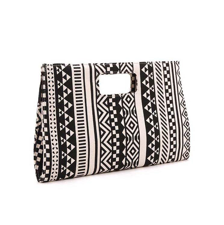 Geometric Atmospheric Canvas Clutch For Big Sale!- Fowish.com