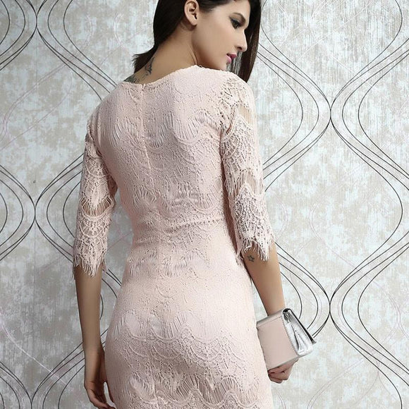 Unique Light  Pink Slim Lace Dress &Party Dress For Big Sale!- Fowish.com