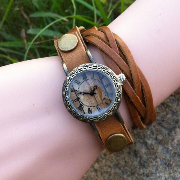 Retro Handmade Rivet Weave Bracelet Watch For Big Sale!- Fowish.com