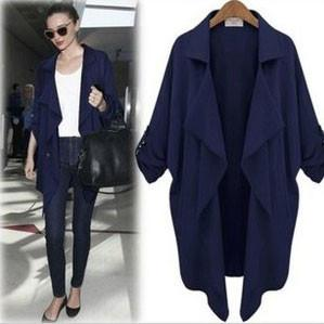 Slim Loose Big Lapel Cardigan Windbreaker/Jacket For Big Sale!- Fowish.com