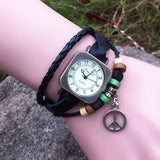 Retro Square Wrap Leather Bracelet Watch For Big Sale!- Fowish.com