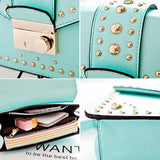 New Rivet Mint Green Shoulder Bag&Messenger Bag - lilyby