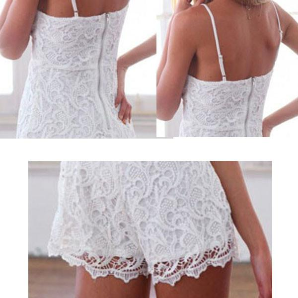 Hollow Soild Lace Sexy Brace Dress - lilyby