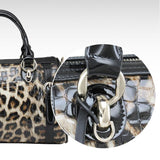 Retro Luxurious Leopard Printed Leather Handbag - lilyby