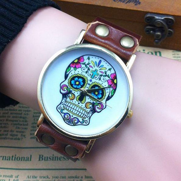 Vintage Skull Printing Punk Watch For Big Sale!- Fowish.com