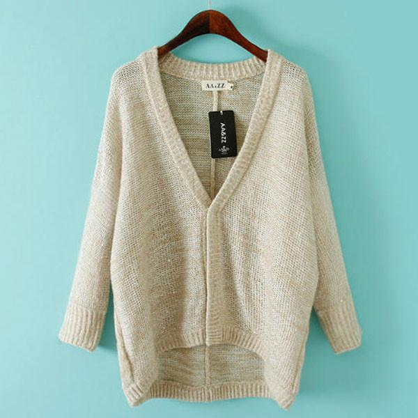 Simple Loose Mohair Sequin Cardigan Sweater Coat For Big Sale!- Fowish.com