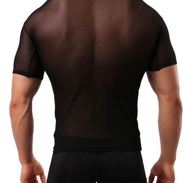 Sexy Men's Mesh See Through Whole Color Zephyr Sport T-shirt Men Lingerie For Big Sale!- Fowish.com