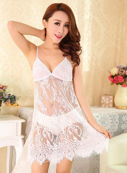 Sexy Princess Lace temperament Nightgown Pyjamas For Big Sale!- Fowish.com