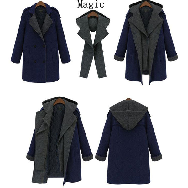 Unique Multi-function Winter Coat Woolen Coat Windbreaker Parkas For Big Sale!- Fowish.com