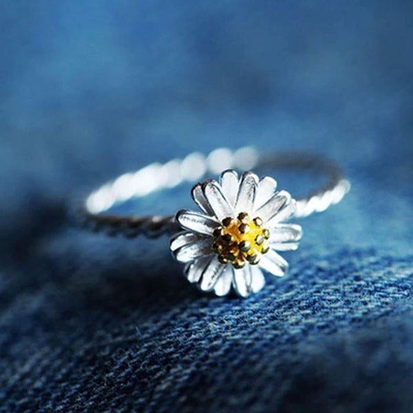 Lovely Daisy Opening Rings Anti-allergy Rings - lilyby