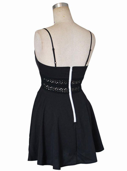 V-neck Waist Lace Suspenders Dresses For Big Sale!- Fowish.com