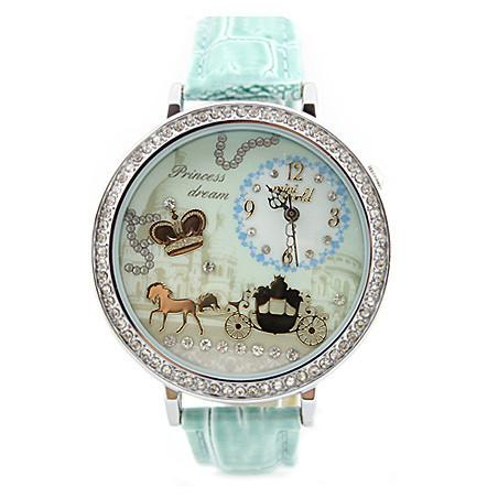 Crown Rhinestone Trim Polymer Clay Watch - lilyby