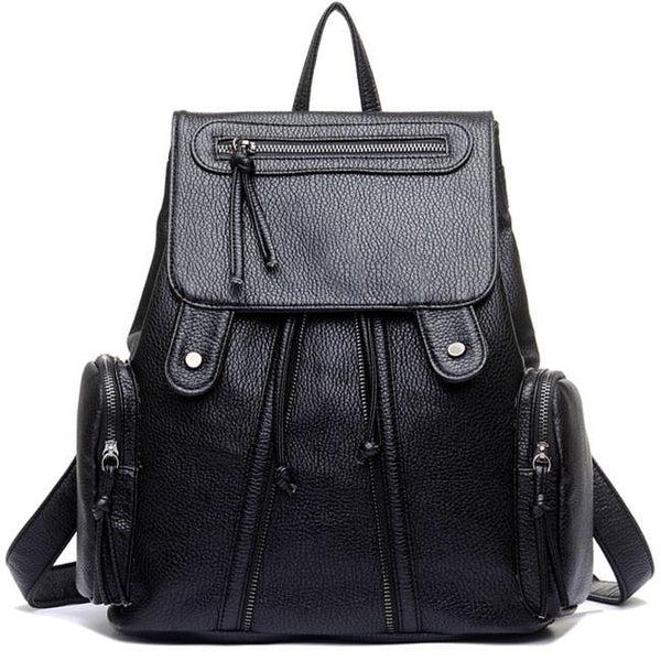 Leisure Women's Rucksack Leather Shoulder School Bag Travel Backpack For Big Sale!- Fowish.com