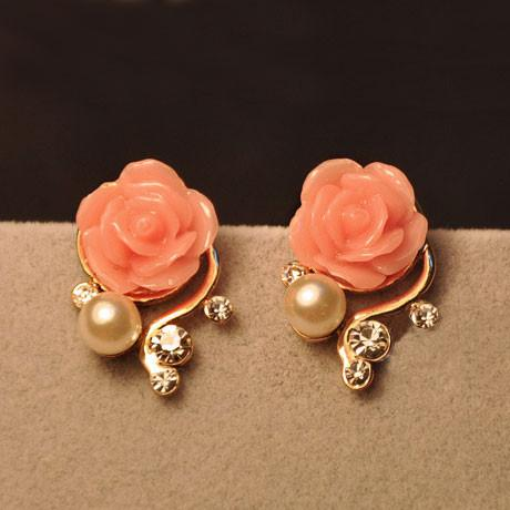 New Rhinestone Bohemia Rose Earrings - lilyby
