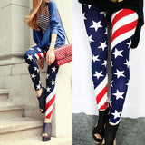 Sexy Stretch US American Flag Tights  Leggings For Big Sale!- Fowish.com