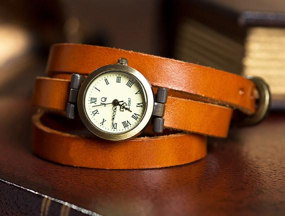 Retro Three laps Wound Leather Strap Bracelet Watch - lilyby