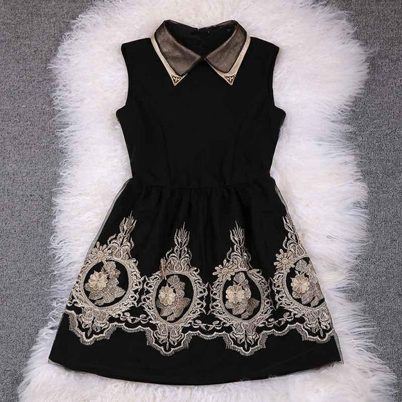 Unique Gold Thread Embroidery Dress &Party Dress For Big Sale!- Fowish.com