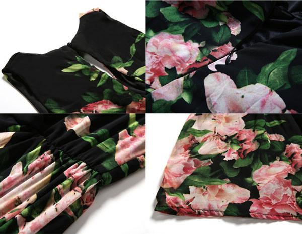 New Fashion Sexy Sweet Floral Jumpsuit Shorts - lilyby