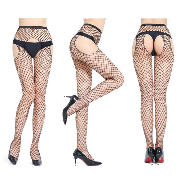 Sexy Lingerie Fishnet Socks Female Stockings Open Pantyhose Stockings
