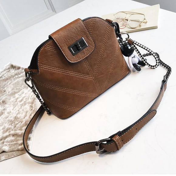 Retro Single Buckle Lady Small Chain Shoulder Summer Messenger Bag