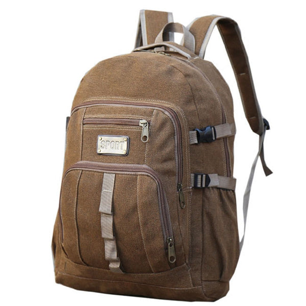 Retro  Travel Sport Rucksack 50 Liters Outdoor Large Camping Canvas Climbing Backpack