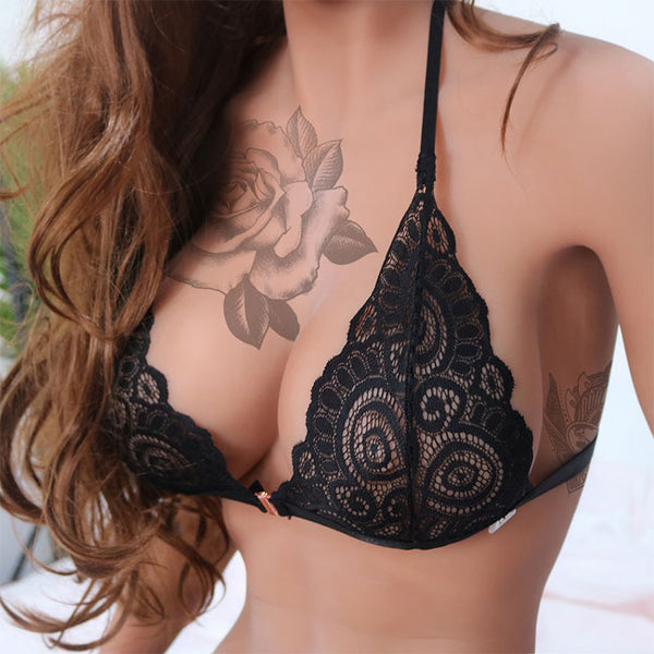 Sexy Leaves Camisoles Bras Intimate Lace Hollow Women Lingerie