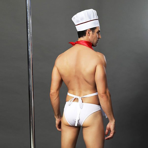 Sexy Costumes Cook Cosplay Male Chef Nightclub Bar Show Men's Lingerie
