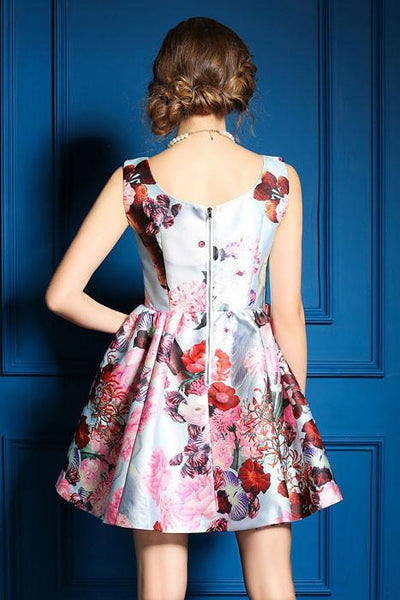 Stylish Colorful Flower Print Vest Skirt Dress For Big Sale!- Fowish.com