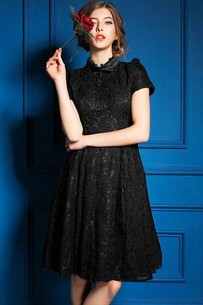 Princess Lace Backless Aristocratic Style Dress - lilyby