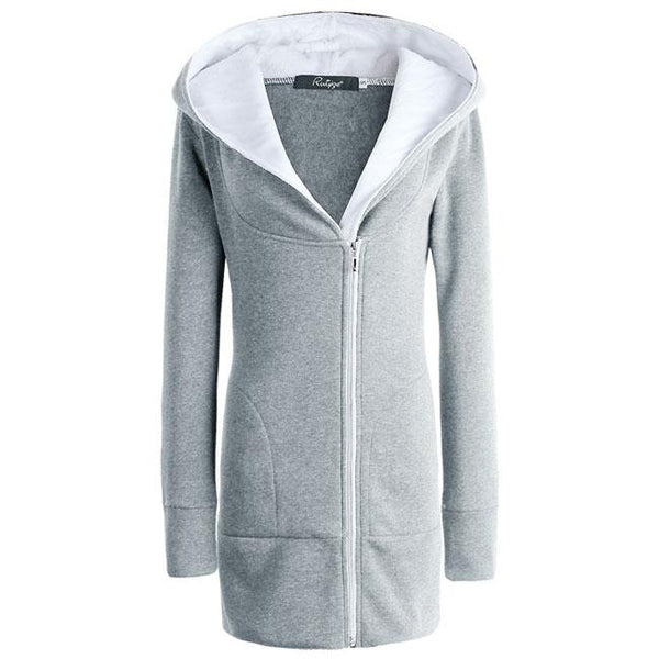 Fashion Thicken Cotton-padded Slim Outwear Women's Winter Long Zipper Warm Hoodie Jacket Coat For Big Sale!- Fowish.com