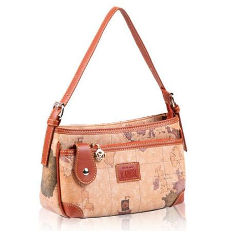 Retro Women World Map Rectangular Small Handbag Messenger Bag - lilyby