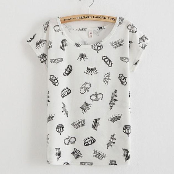 Imperial Crown Printed T-Shirt - lilyby