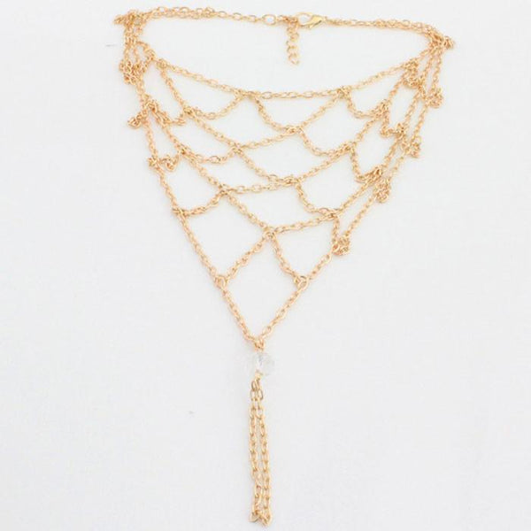 Women Reticular Gold Anklet Handmade Beach Foot Jewelry For Big Sale!- Fowish.com