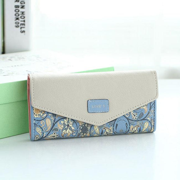 Unique Floral Purse Flower Printing Clutch Bag Long Ladies Wallet For Big Sale!- Fowish.com
