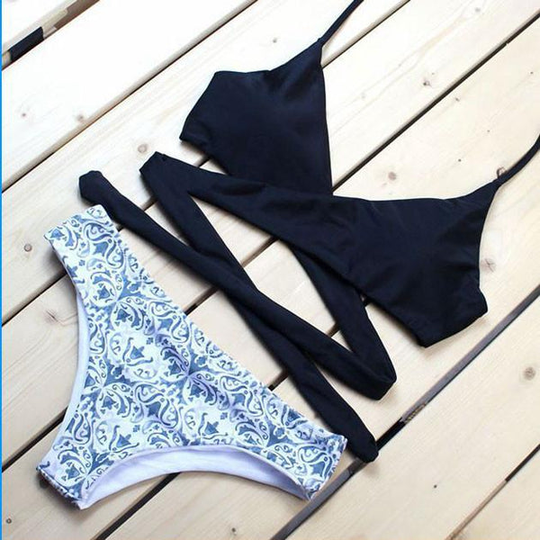 Palace Flower Printing Split Swimsuit For Big Sale!- Fowish.com
