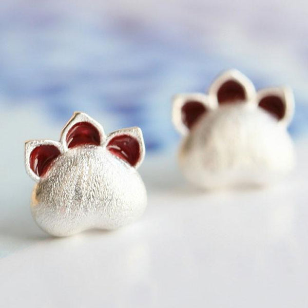 Sterling 925 Silver Kitten Animal Earrings Cute Cat Earrings Studs For Big Sale!- Fowish.com