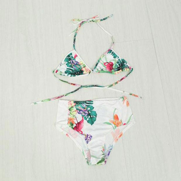Flowers and Leaves Bikini Set Beach Swimwear Swimsuit Bathingsuit - lilyby